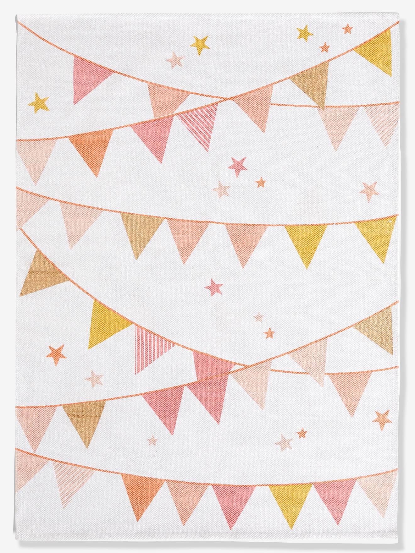 """Kinderzimmer-Teppich """"Wimpel"""" beige/rosa von vertbaudet"""