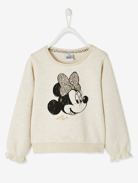 Minnie Mädchen Sweatshirt MINNIE MAUS in grau meliert