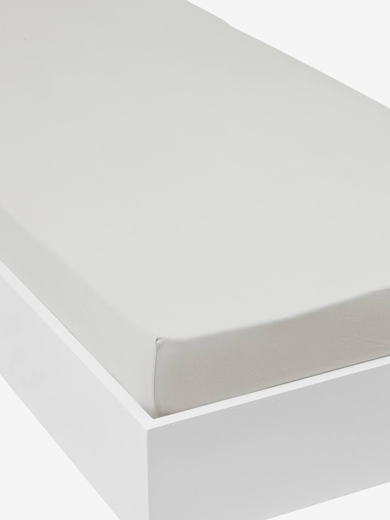 VERTBAUDET Jersey-Spannbettlaken für Kinderbetten grau Gr. 90x140