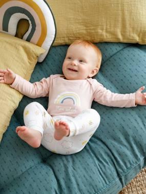 Baby-Set: Hose, Body & Mütze weiß/rosa Gr. 44 von vertbaudet