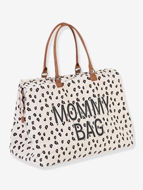 """Große Wickeltasche """"Mommy bag"""" CHILDHOME weiß leoprint"""