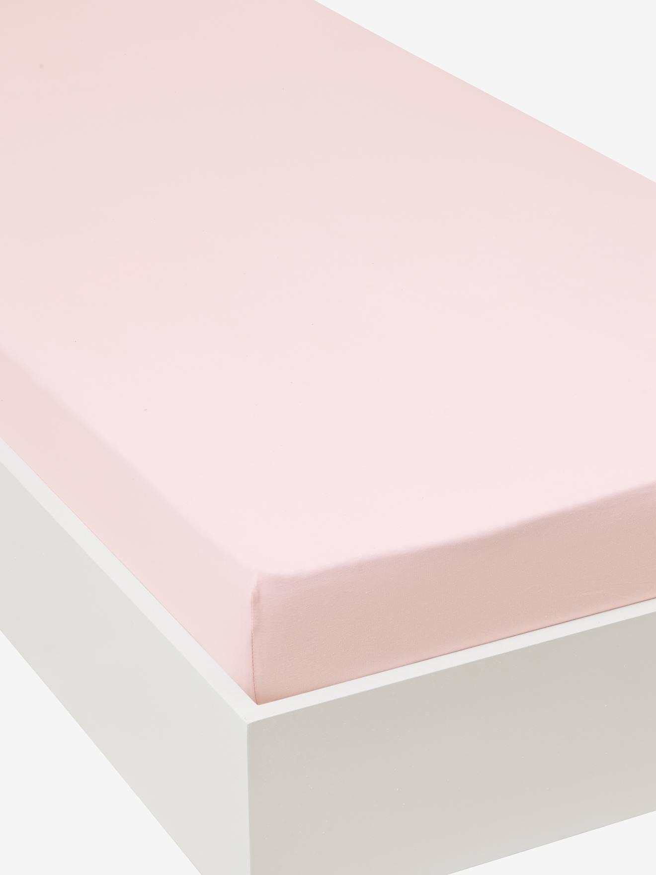 VERTBAUDET Jersey-Spannbettlaken für Kinderbetten rosa Gr. 90x140