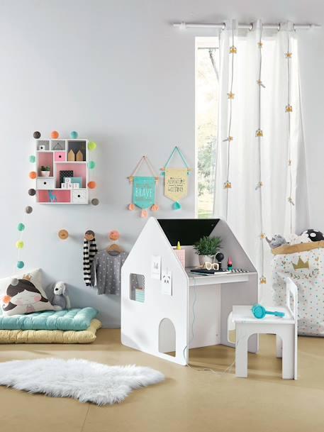 Vertbaudet Lichtergirlande für Kinderzimmer, Lichterkette in blau
