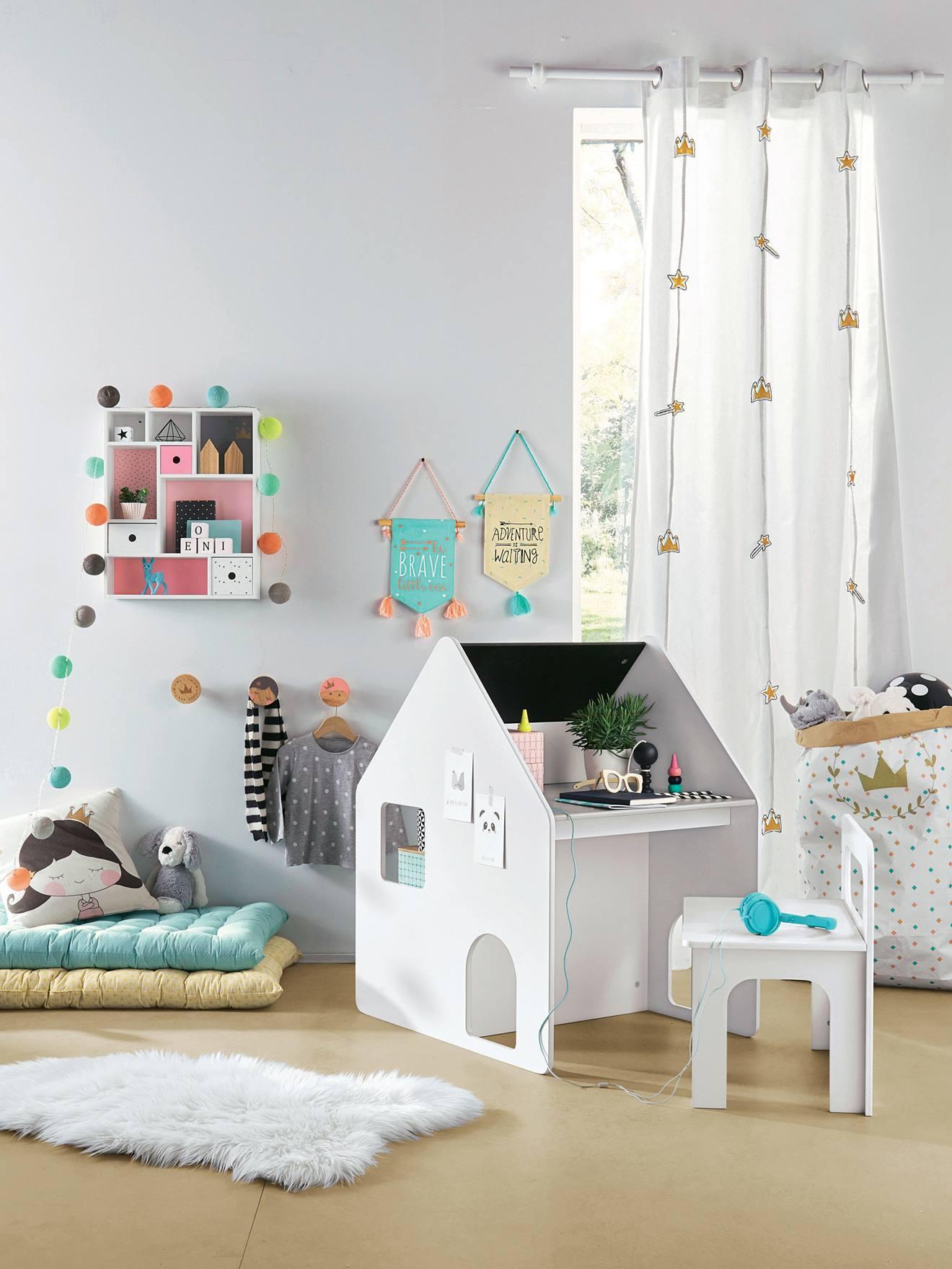 Vertbaudet Lichtergirlande für Kinderzimmer in blau/mehrfarbig