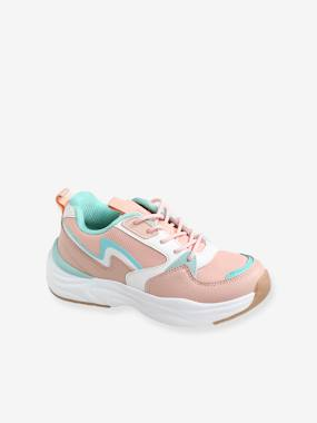 Mädchen Sneakers im Running-Style, Material-Mix rosa Gr. 24 von vertbaudet