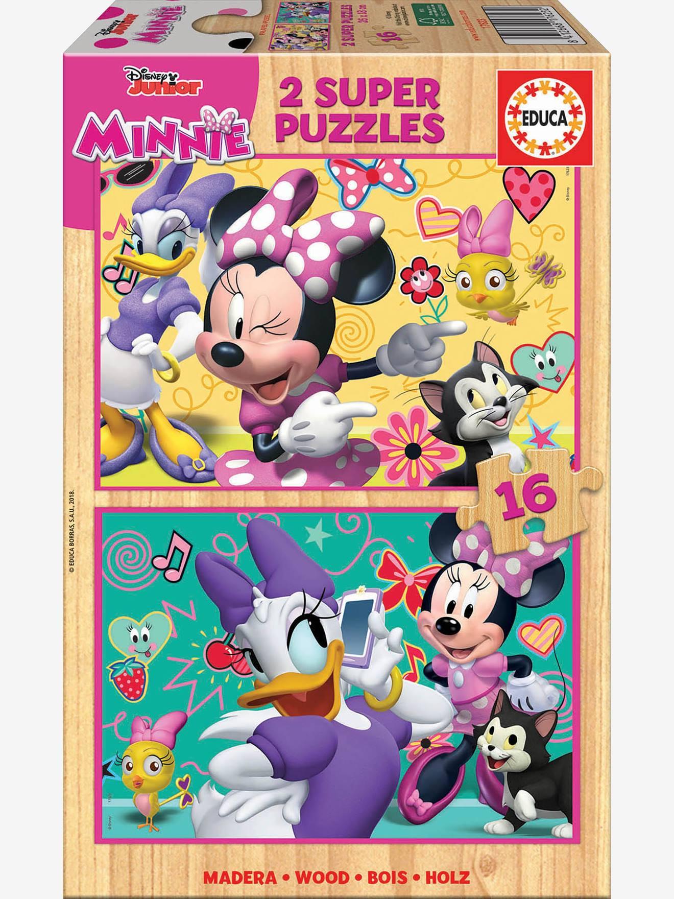 2er-Set Holzpuzzles, 16 Teile Disney MINNIE MAUS EDUCA® 8412668176232