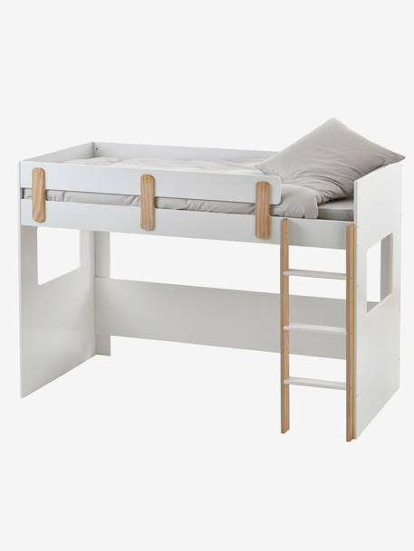vertbaudet kinder hochbett everest in wei natur. Black Bedroom Furniture Sets. Home Design Ideas