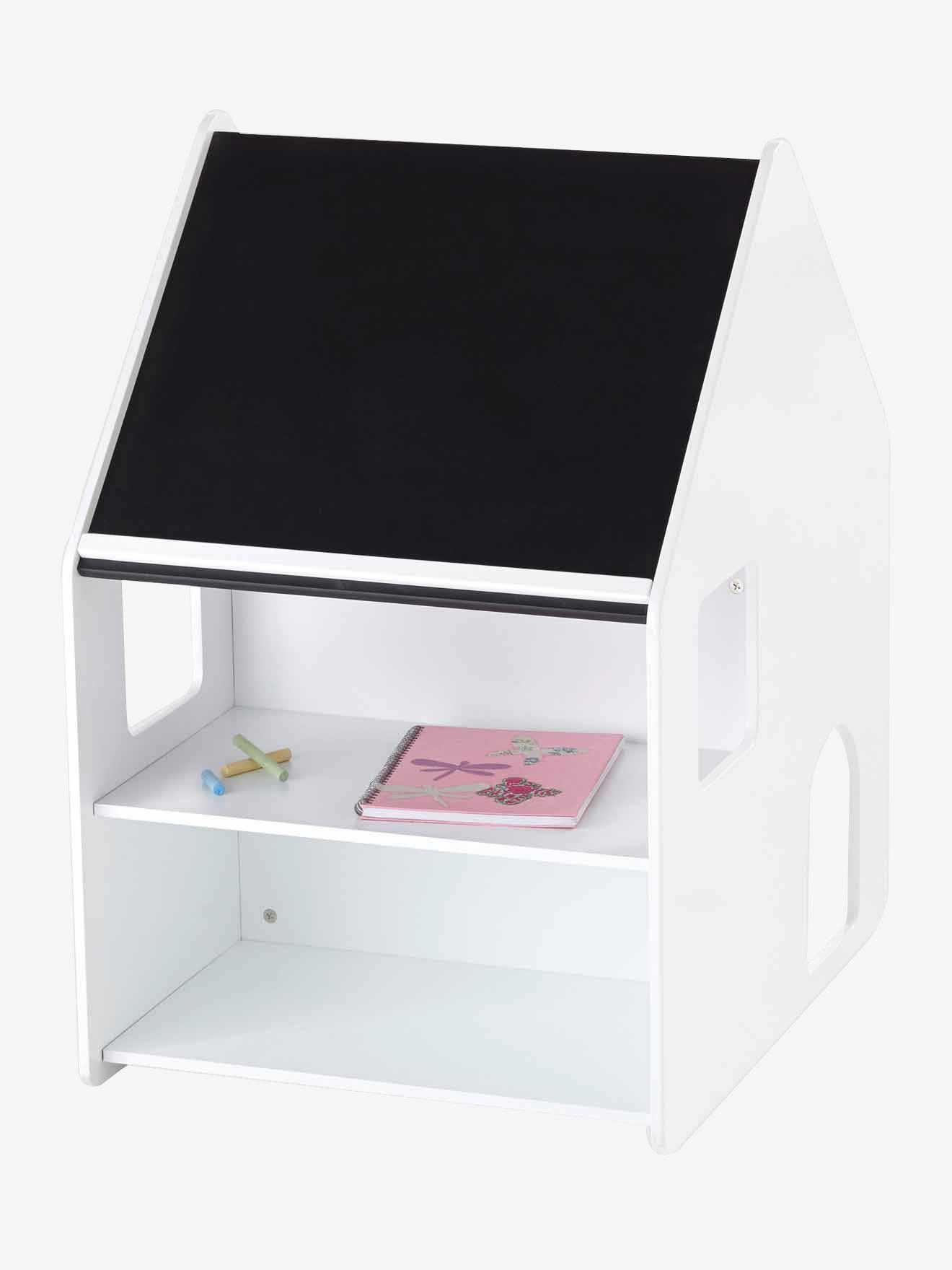 Vertbaudet Set aus Schreibtisch und Stuhl für Kleinkinder in weiß/grau
