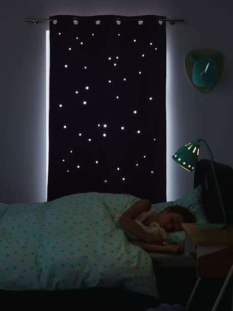 Vertbaudet verdunkelungsvorhang mit ausgestanzten sternen for Verdunkelungsvorhang baby