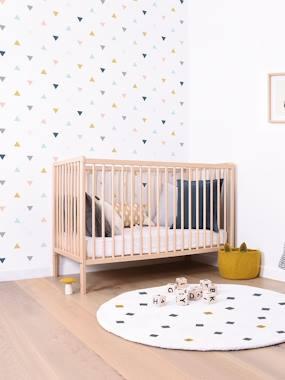 Kinderzimmer Vliestapete LILIPINSO weiß/mehrfarbige dreiecke