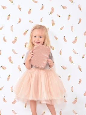 Kinderzimmer Vliestapete LILIPINSO weiß/rosa federn