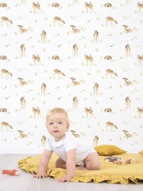 Kinderzimmer Vliestapete LILIPINSO weiß rehkitz