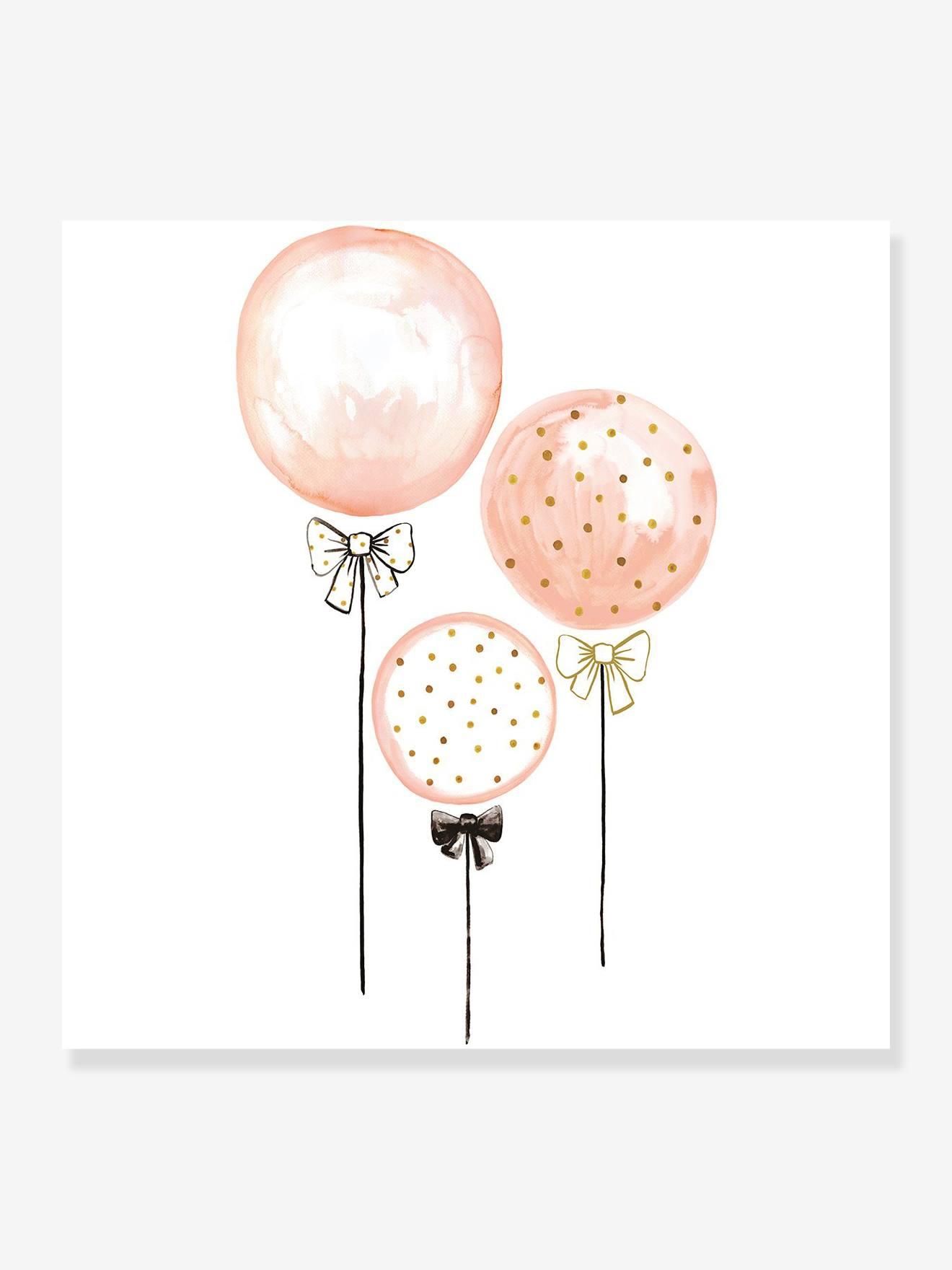"""Kinderzimmer Wandsticker """"Ballons & Tupfen"""" LILIPINSO rosa/luftballons"""