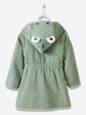 Kinder Bademantel, Krokodil-Kostüm, personalisierbar grün Gr. 140 von vertbaudet