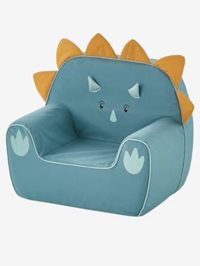 Sessel in Dino-Form, Triceratops, personalisierbar grün von vertbaudet