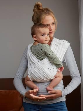 Baby Tragetuch ohne Knoten weiß Gr. xS von vertbaudet