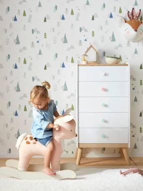 Kinderzimmer Vliestapete LILIPINSO weiß/mehrfarbig waldmotive