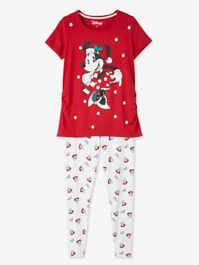 Umstandsschlafanzug MINNIE MAUS, Weihnachten rot/weiß Gr. 32/34