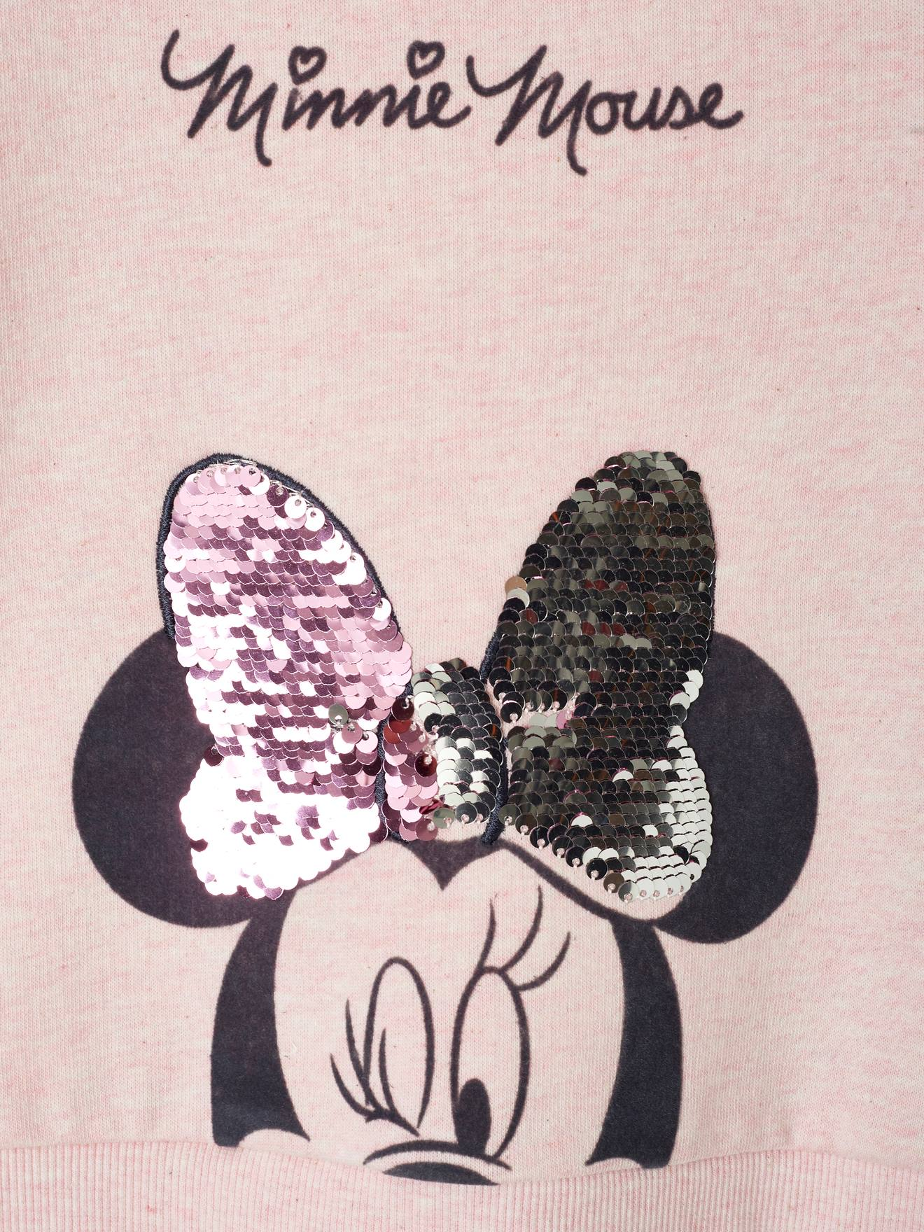 Minnie Madchen Sweatshirt Disney Minnie Maus Wendepailletten In Rosa Meliert