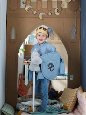 Kinder Kostüm-Set: Ritterschwert & Schild aus Stoff blau von vertbaudet