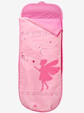 kinderschlafsack-mit-luftmatratze-fee-hellrose-einfarbig-app-von-vertbaudet