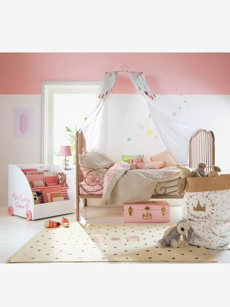 vertbaudet fahrbares b cherregal f r kinder in wei rosa. Black Bedroom Furniture Sets. Home Design Ideas