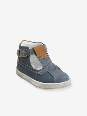 Jungen Baby Lauflern-Sandalen blaugrau Gr. 17 von vertbaudet