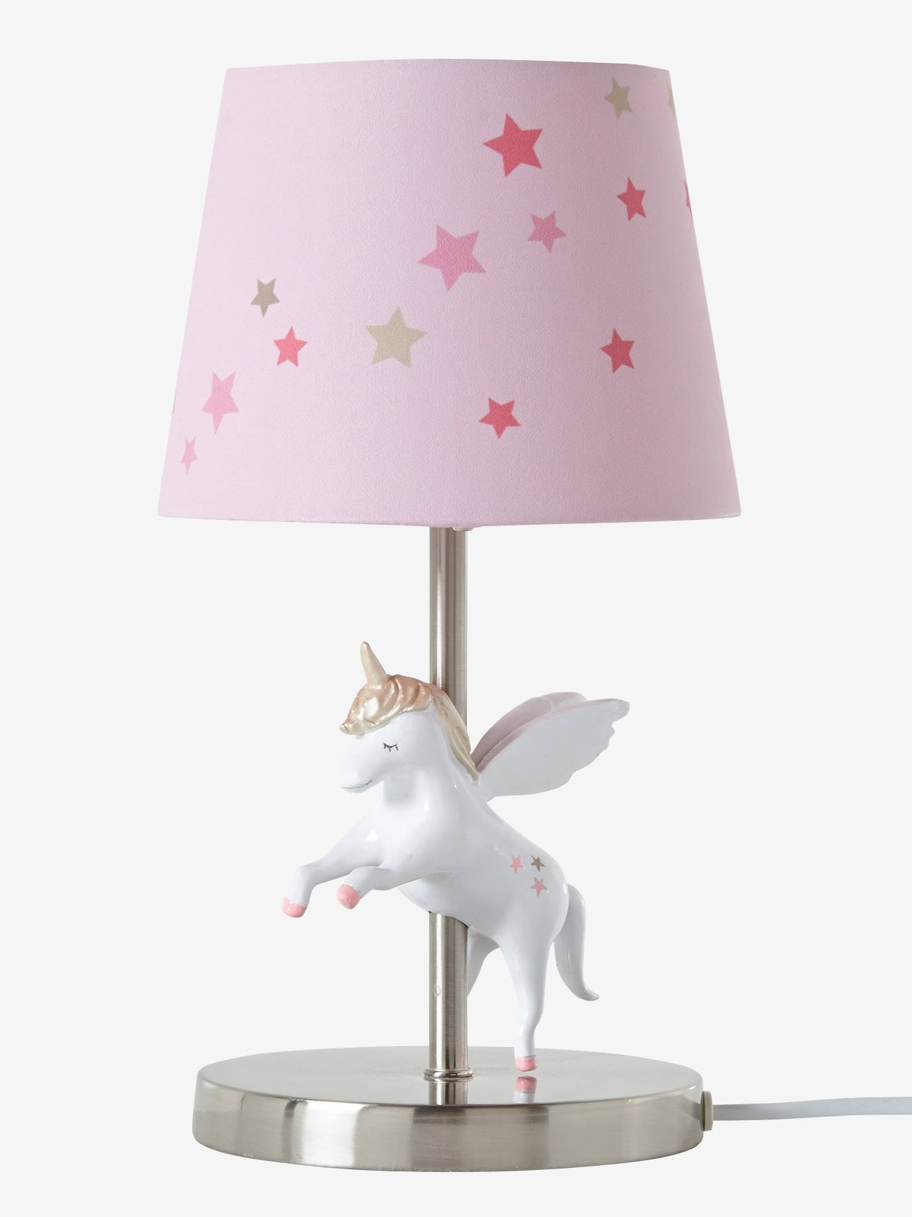 vertbaudet kinder nachttischlampe mit einhorn in rosa. Black Bedroom Furniture Sets. Home Design Ideas