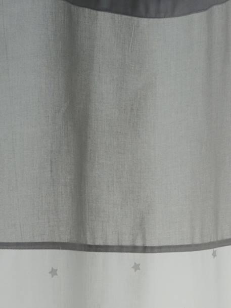 vertbaudet vorhang mit sternen in wei grau sterne. Black Bedroom Furniture Sets. Home Design Ideas