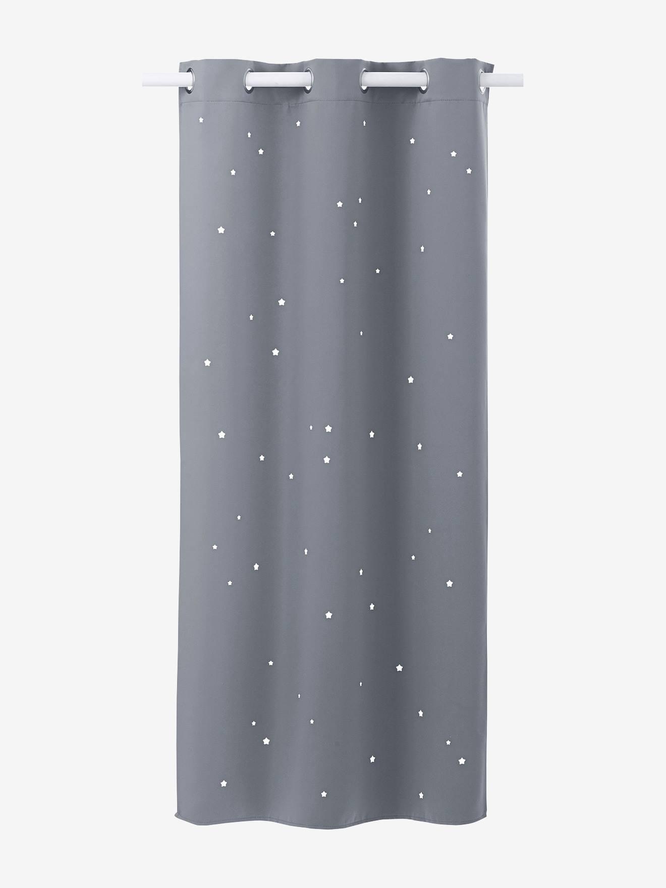 Kinderzimmer sterne grau  Vertbaudet Verdunkelungsvorhang mit ausgestanzten Sternen in blau