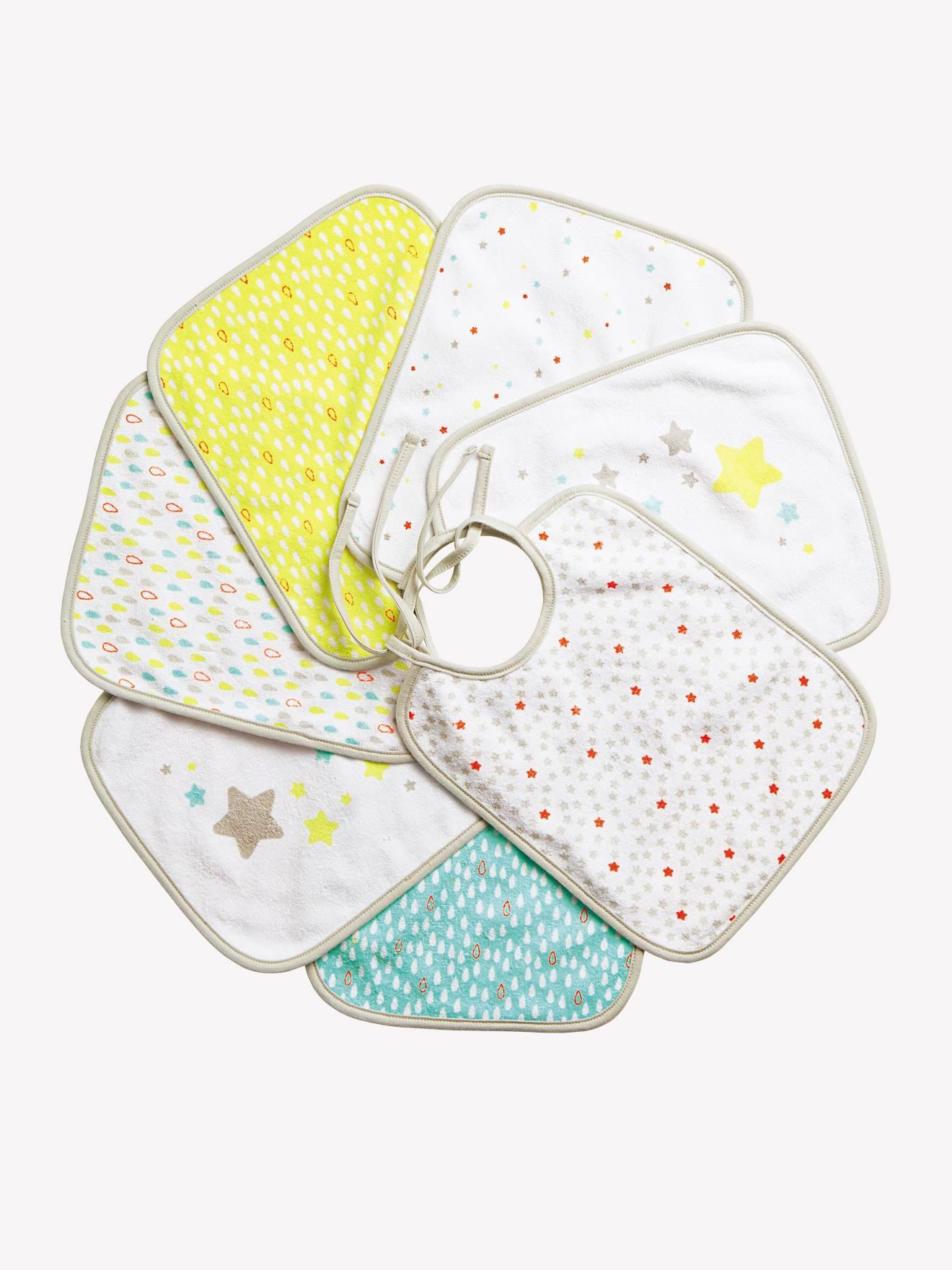 Baby Lätzchen 7er Set neu für  Mädchen mit Früchten #30#