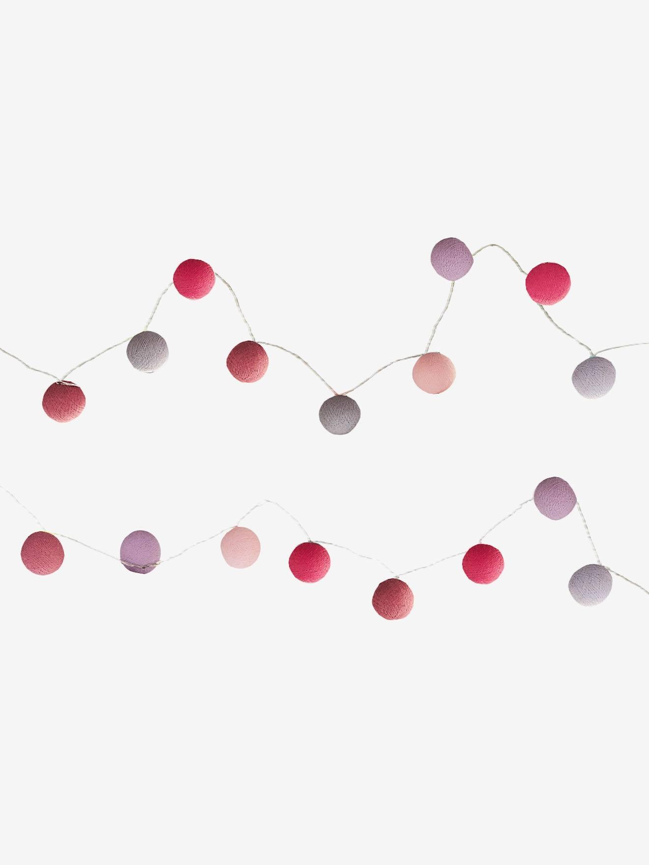 VERTBAUDET Lichtergirlande für Kinderzimmer rosa/mehrfarbig