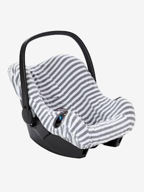 schonbezug-fur-babyschale-elastisch-gestreift-mittelgrau-von-vertbaudet