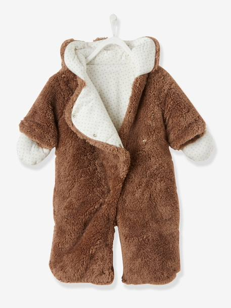 Baby Overall/Ausfahrsack - taupe+wollweiß - 2