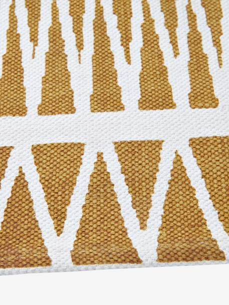vertbaudet kinderzimmer teppich grafisches muster in senf. Black Bedroom Furniture Sets. Home Design Ideas