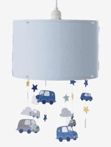 Vertbaudet Hänge-Lampenschirm für Kinderzimmer, Autos in blau