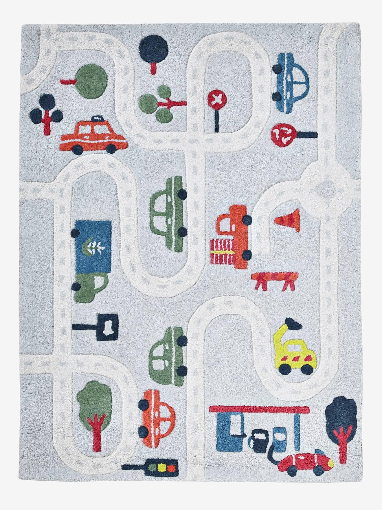 """VERTBAUDET Spielteppich """"Autos"""" für Kinderzimmer grau/mehrfarbig"""