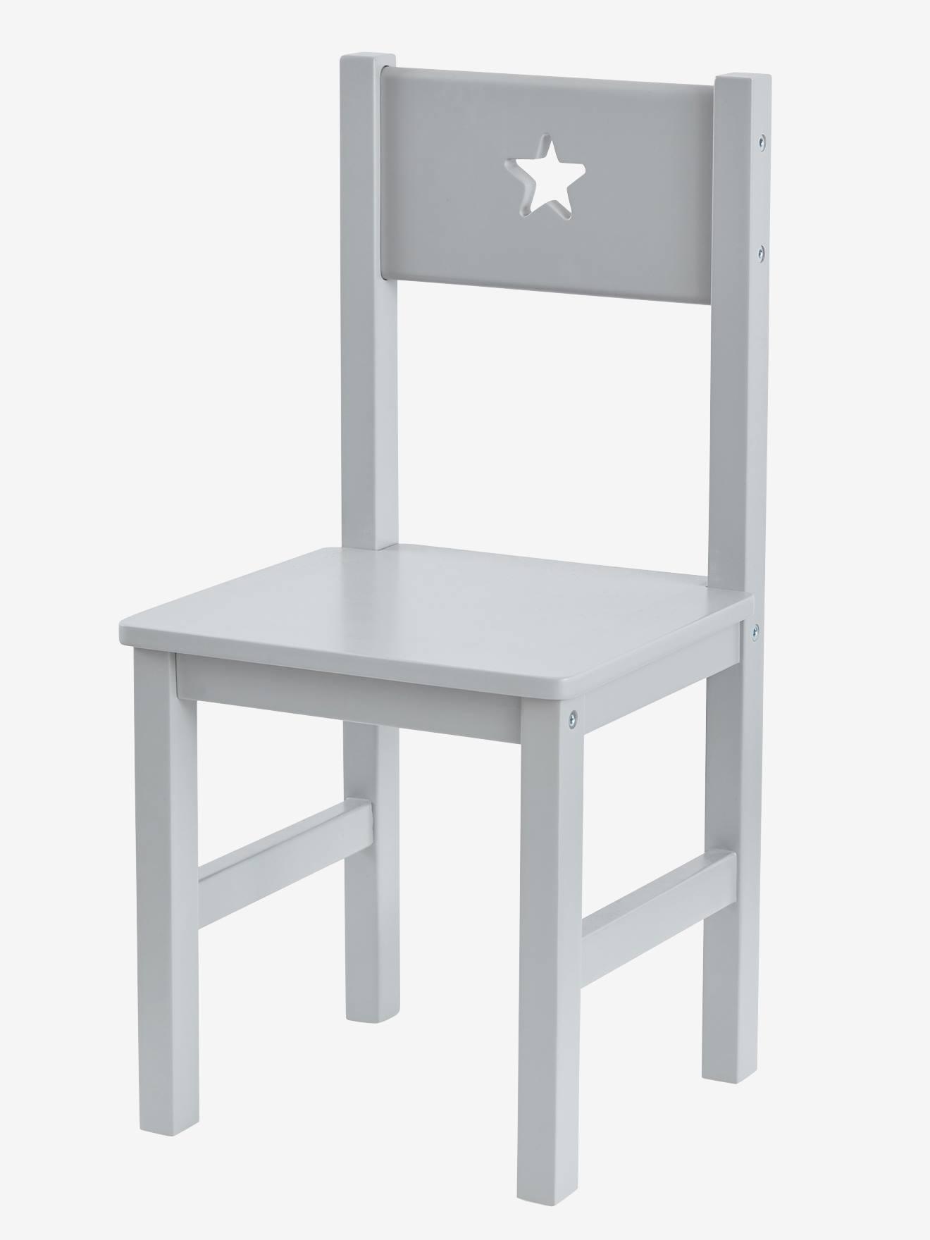 Kinderstuhl ´´Sirius´´, Sitzhöhe 30 cm grau von vertbaudet