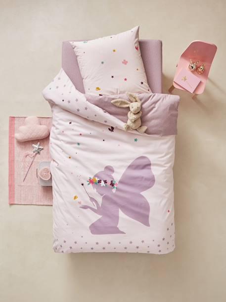 vertbaudet bettw sche set f r kinder kleine fee in grauviolett. Black Bedroom Furniture Sets. Home Design Ideas