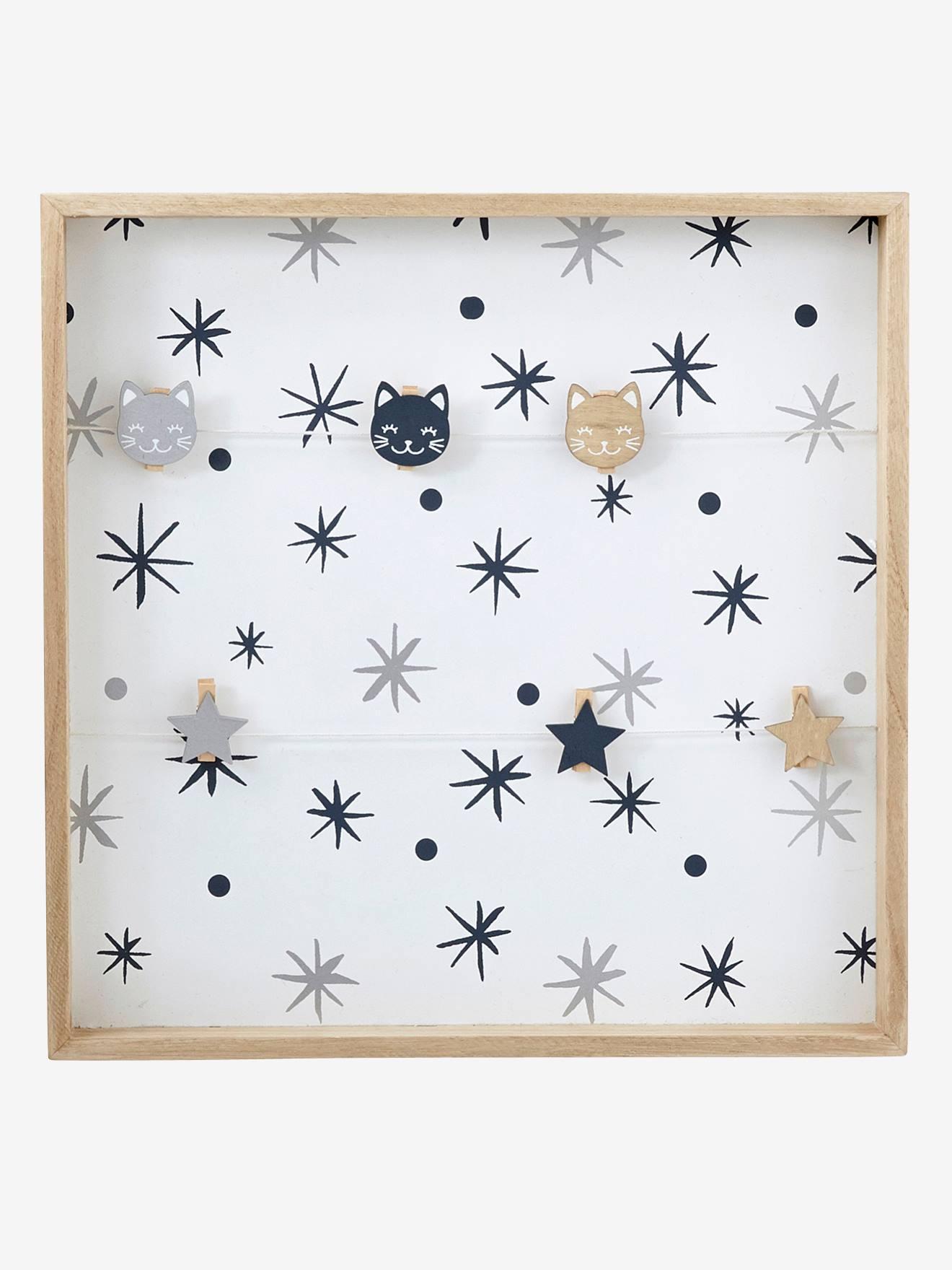 VERTBAUDET Kinderzimmer-Pinnwand aus Holz natur/weiß