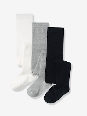 3er-pack-strumpfhosen-fur-madchen-grau-meliert-kinder-gro-e-31-34-von-vertbaudet