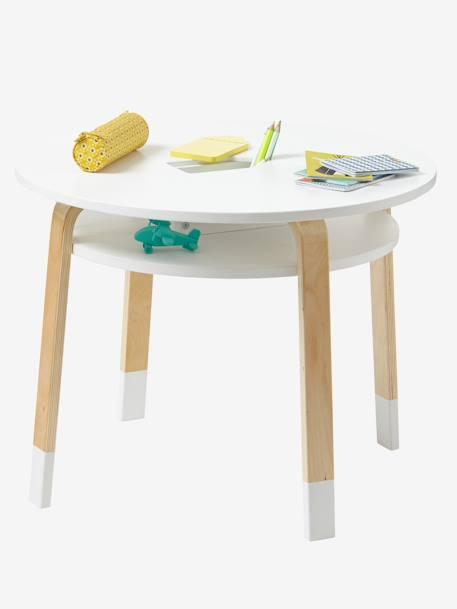 vertbaudet runder spieltisch f r kinder in wei natur. Black Bedroom Furniture Sets. Home Design Ideas
