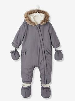 Babymode-Baby Winter-Overall mit Fleecefutter