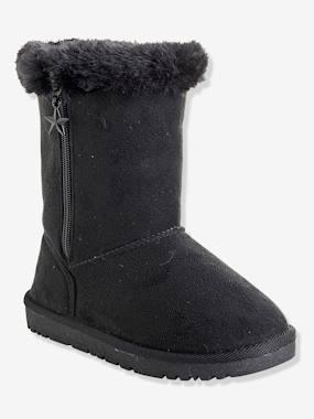 vertbaudet-winterstiefel-fur-madchen-velours-schwarz-gr-32, 29.99 EUR @ vertbaudet-de