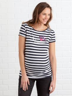 Kindershirts mit tollen Motiven-Umstands-Ringelshirt, Applikationen