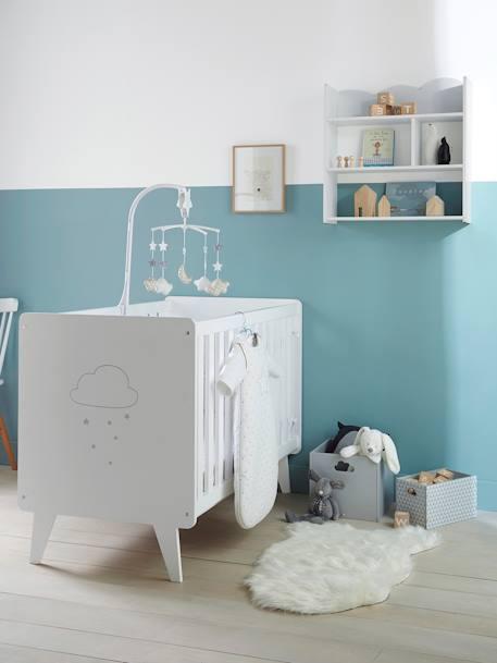 vertbaudet kleine aufbewahrungsbox f r kinder in grau dreiecke. Black Bedroom Furniture Sets. Home Design Ideas