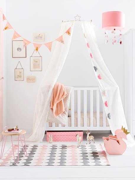 Vertbaudet Kinderzimmer-Teppich, Reine Baumwolle In Weiß