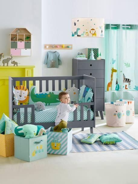 Vertbaudet kinder garderobe tiere in natur mehrfarbig for Garderobe kinder