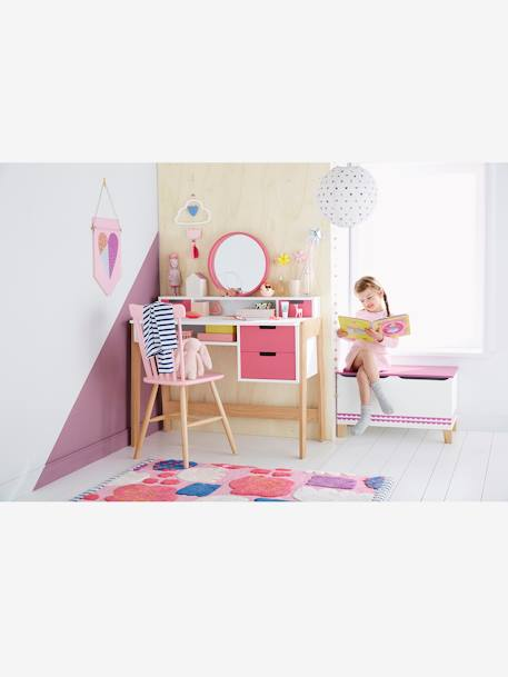 vertbaudet kinderzimmer teppich farbkasten in rosa blau. Black Bedroom Furniture Sets. Home Design Ideas