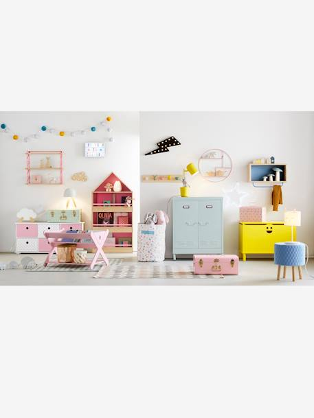 Vertbaudet Kinder-Garderobe, Tiere in natur/mehrfarbig